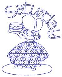 Saturday Baking embroidery design