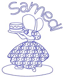 French Saturday Lady embroidery design