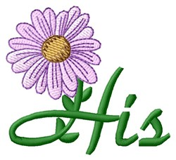 His Towel Flower embroidery design