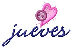 Button Jueves embroidery design