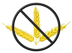 No Wheat embroidery design