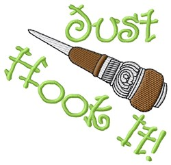 Hook It embroidery design