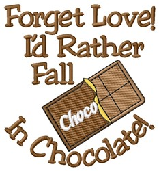Love Chocolate embroidery design