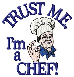Trust Chef embroidery design
