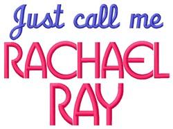 Rachel Ray embroidery design