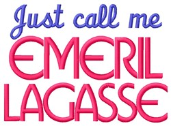 Emeril Lagasse embroidery design