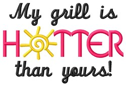 Grill Is Hotter embroidery design