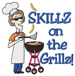 Skillz On Grillz embroidery design