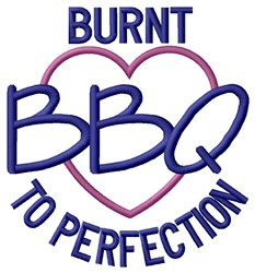 Burnt BBQ embroidery design