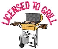 Licensed Grill embroidery design