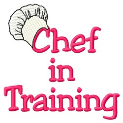 Chef Training embroidery design