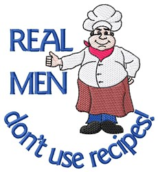Real Men embroidery design