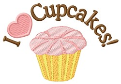 Love Cupcakes embroidery design