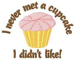 Met A Cupcake embroidery design