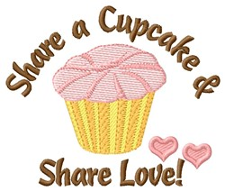 Share Cupcake embroidery design
