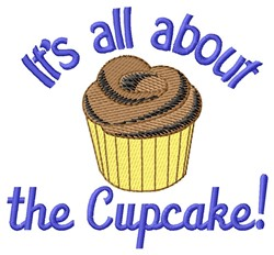 All About Cupcake embroidery design