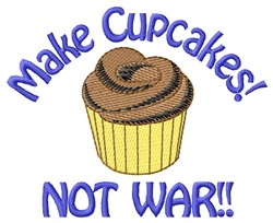 Make Cupcakes embroidery design