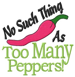 Too Many Peppers embroidery design