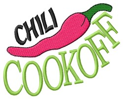 Chili Cook Off embroidery design