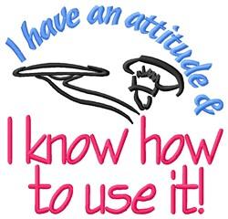 An Attitude embroidery design