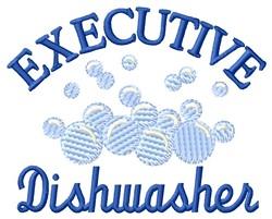 Executive Dishwasher embroidery design