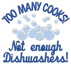 Enough Dishwashers embroidery design