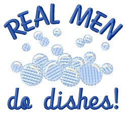 Men Do Dishes embroidery design