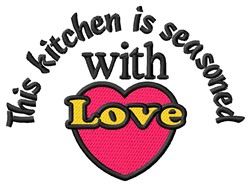 Seasoned With Love embroidery design