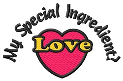 Special Ingredient embroidery design