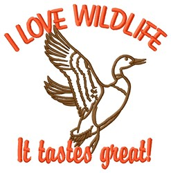 Love Wildlife embroidery design
