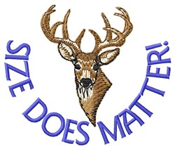 Size Does Matter embroidery design