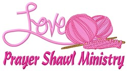 Prayer Shawl Love embroidery design