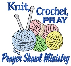 Knit Crochet Pray embroidery design