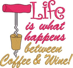 Life Happens embroidery design