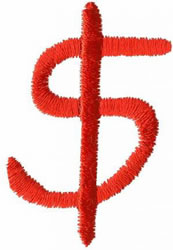 Kids Dollar Sign embroidery design