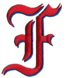 King F embroidery design