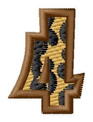 Leopard Number 4 embroidery design