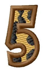 Leopard Number 5 embroidery design