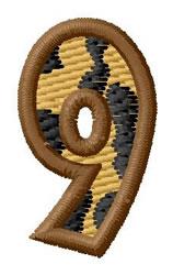 Leopard Number 9 embroidery design
