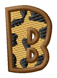 Leopard Letter B embroidery design