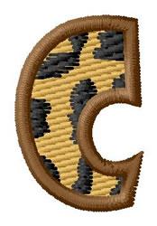 Leopard Letter C embroidery design