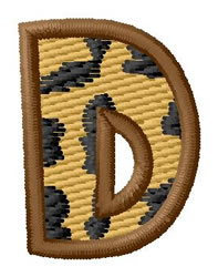 Leopard Letter D embroidery design