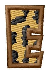 Leopard Letter E embroidery design