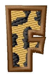 Leopard Letter F embroidery design