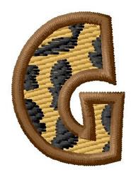 Leopard Letter G embroidery design