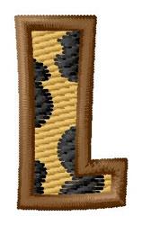 Leopard Letter L embroidery design