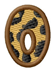Leopard Letter O embroidery design