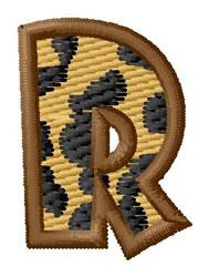 Leopard Letter R embroidery design
