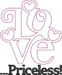 Love Is Priceless embroidery design