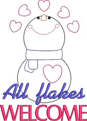 All Flakes Welcome embroidery design